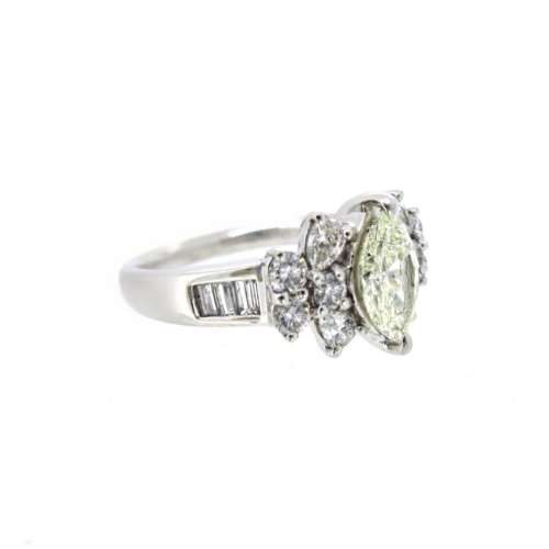 Marquise, Pear & Round Diamond Cluster