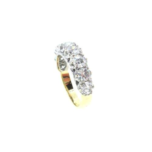 Nine Stone Eternity Diamond Ring