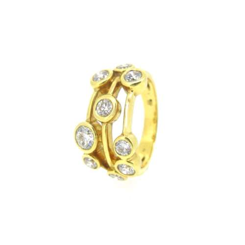 Diamond Multi-Band Ring