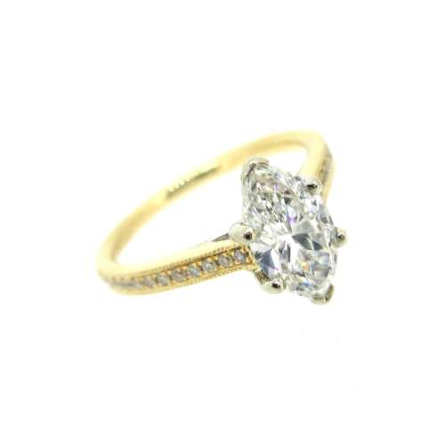 Marquise Cut Diamond Solitaire