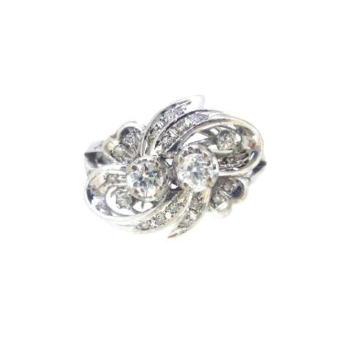 Vintage Fancy Diamond Bow Ring