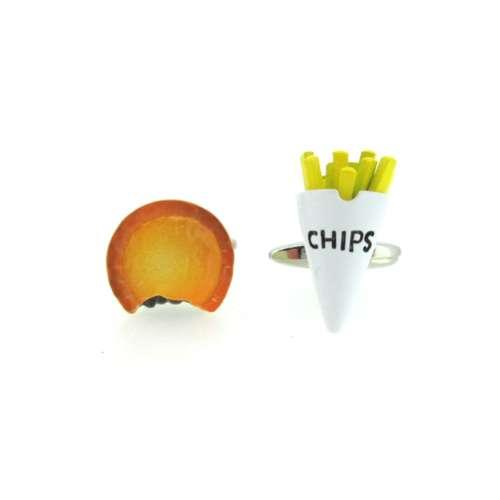 Pie & Chips Cufflinks