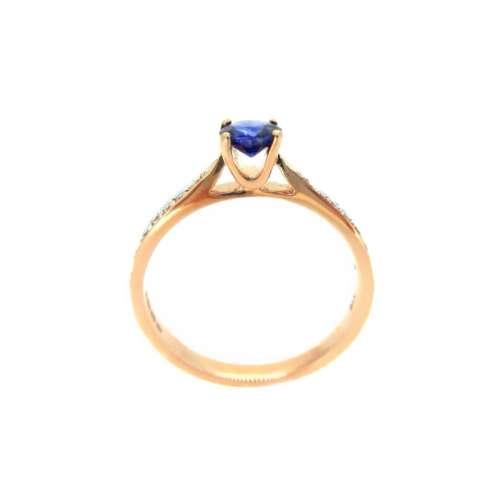 Rose Gold Sapphire & Diamond Ring