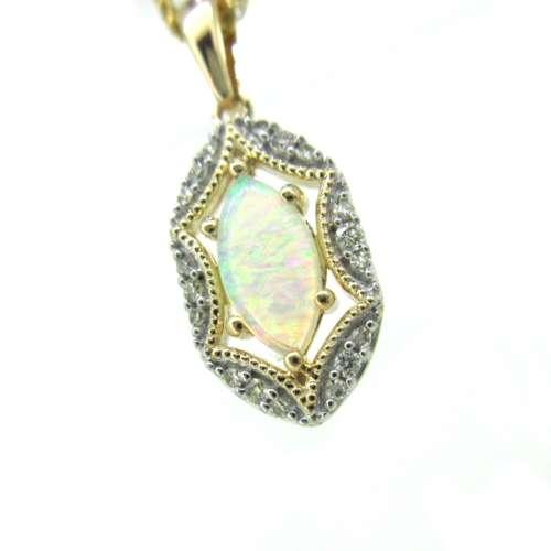 Opal & Diamond Necklace