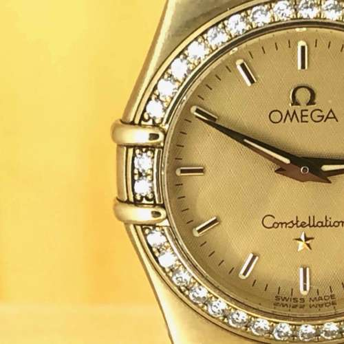 Ladies 18ct Gold & Diamond Omega Constellation Watch
