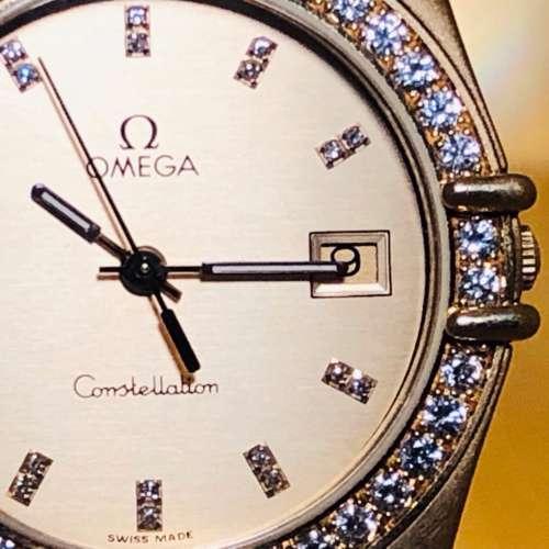 Gents 18ct Gold & Diamond Omega Constellation Watch