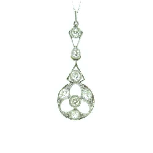 Antique Platinum Diamond Pendant
