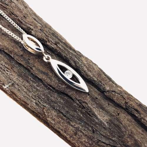 Silver & Cubic Zirconia Necklace