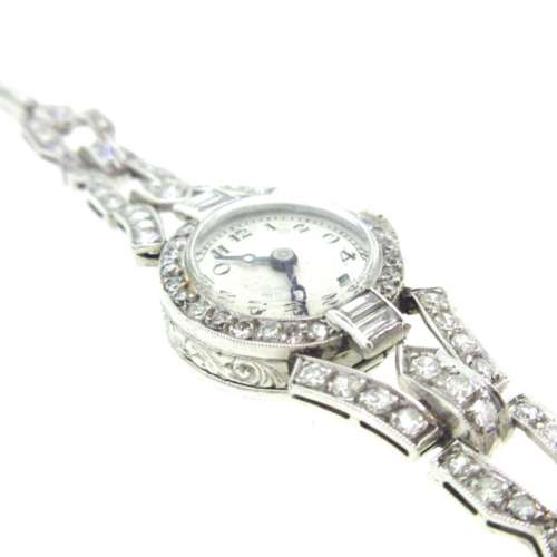 Art Deco Platinum & Diamond Watch
