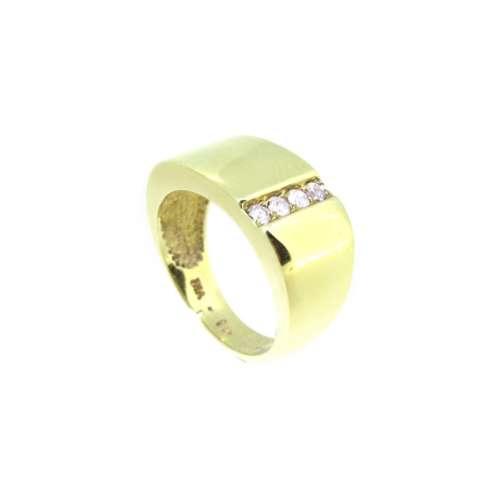 Gents Four Stone Diamond Ring