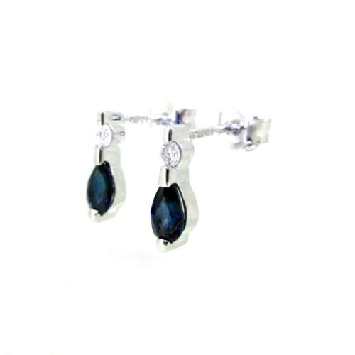 Sapphire & Diamond Earrings