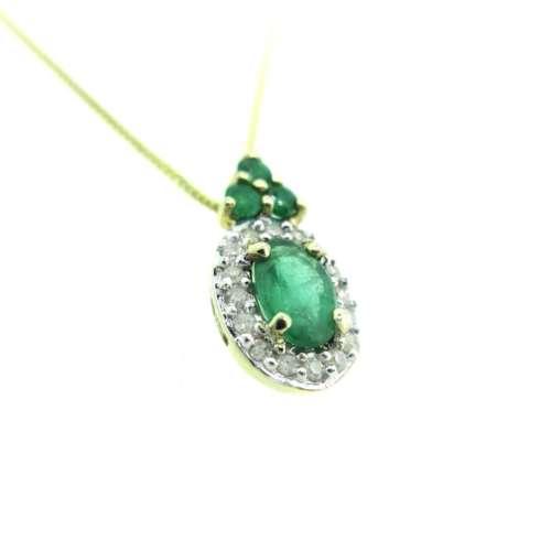 Emerald & Diamond Necklace