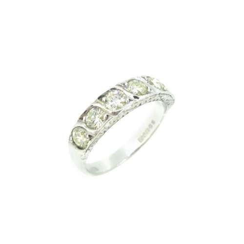 Diamond Six Stone Half Eternity Ring