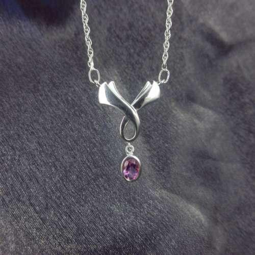 Silver & Amethyst Necklace