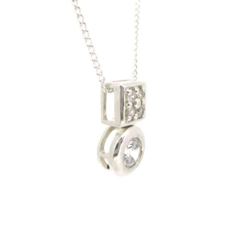 Silver & Cubic Zirconia Necklace
