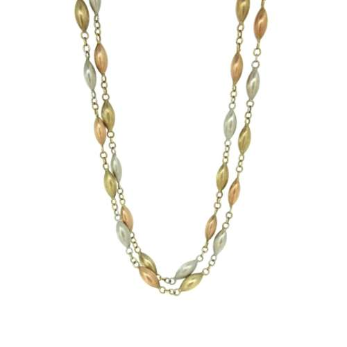 9ct White & Yellow Gold Necklace