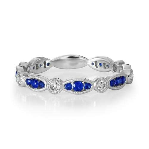 Sapphire & Diamond Full Eternity Ring