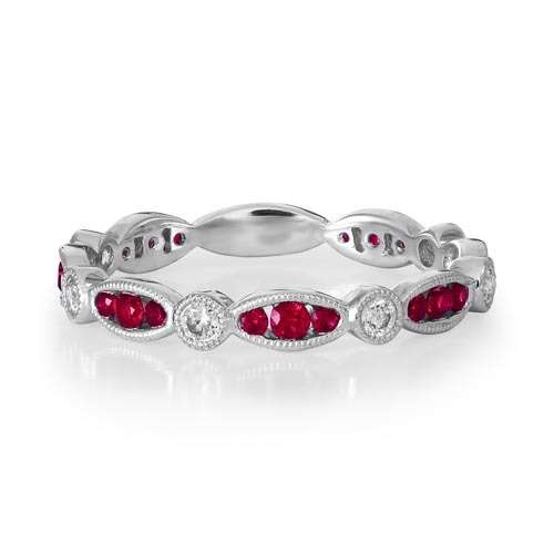Ruby & Diamond Full Eternity Ring