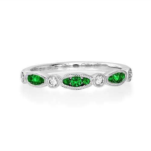 Emerald & Diamond Full Eternity Ring