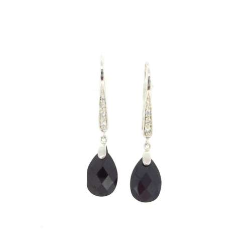 Silver & Black Onyx Earrings