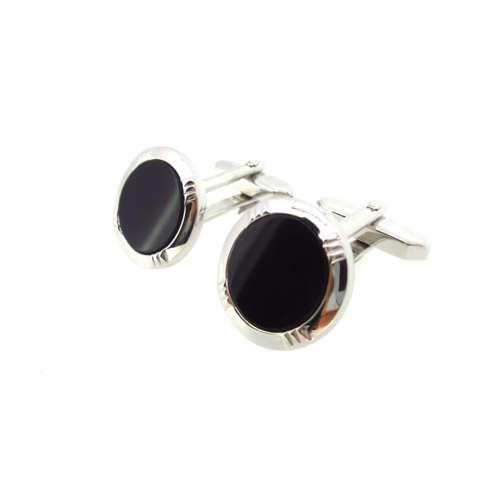 Silver & Black Onyx Cufflinks
