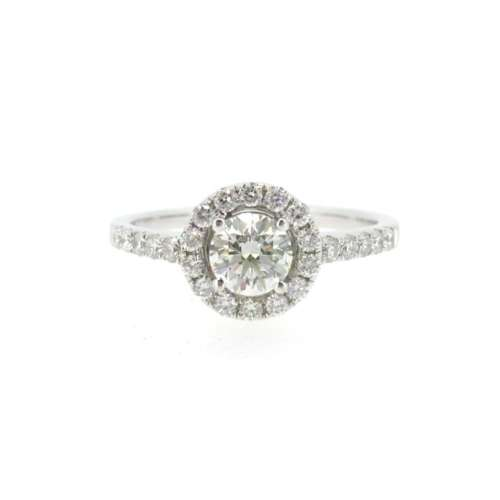 Diamond Solitaire Halo Ring