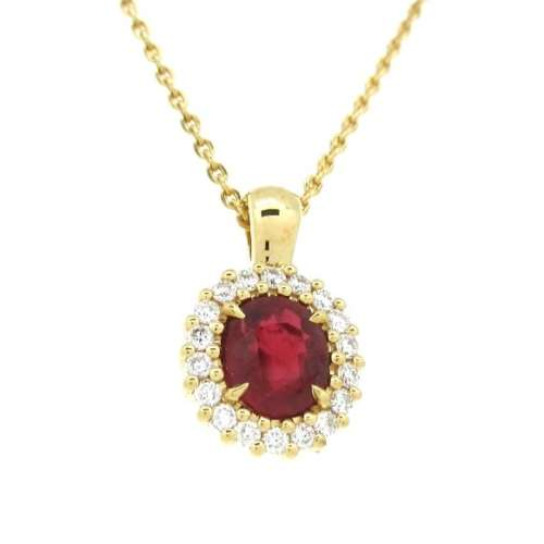 Ruby & Diamond Necklace