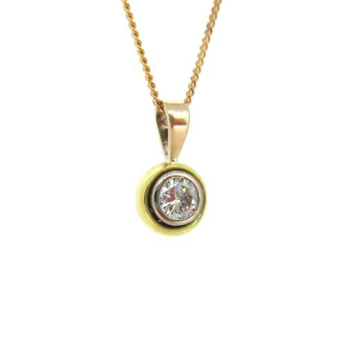 Tri-Colour Diamond Necklace