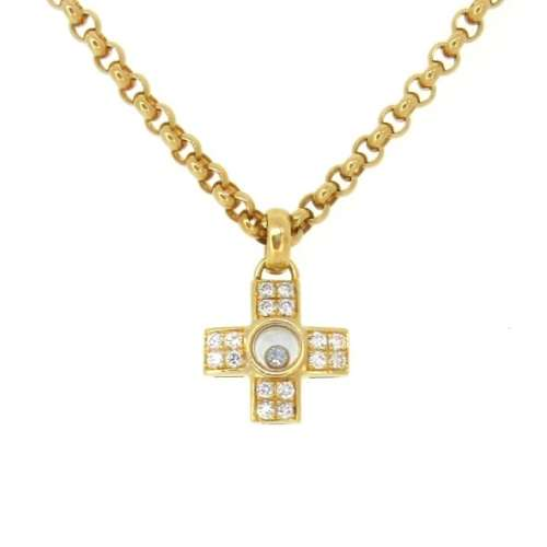 Chopard Diamond Cross Necklace