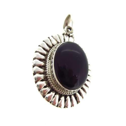 Silver & Black Onyx Pendant