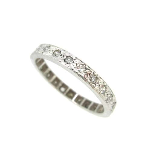 White Gold Full Eternity Ring
