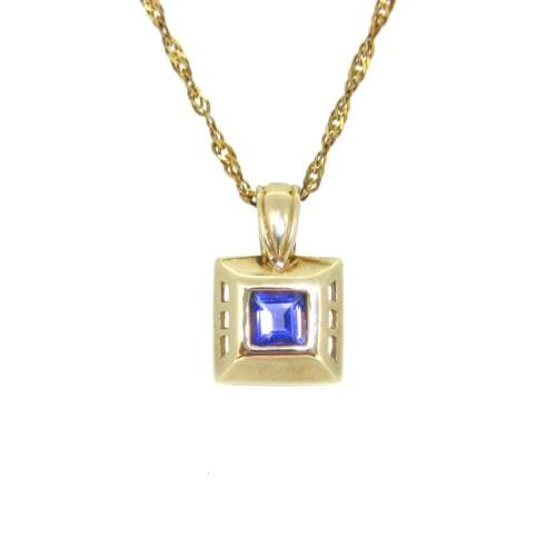Iolite Gold Necklace