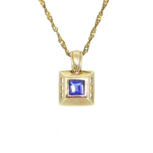 Iolite Gold Necklace