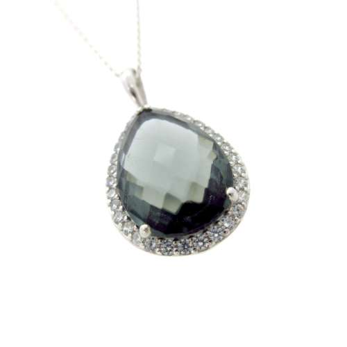 Silver Smokey Quartz Necklace
