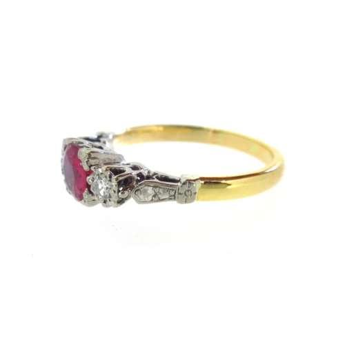 Antique Diamond & Ruby Ring