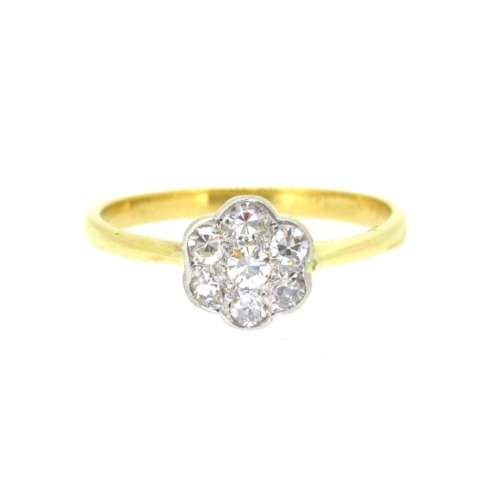 Antique Diamond Daisy Ring