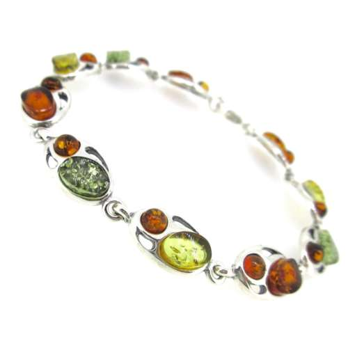 Amber & Silver Bracelet