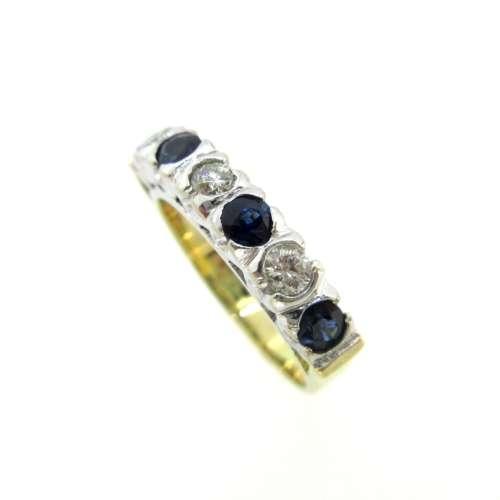 Sapphire & Diamond Seven Stone Ring