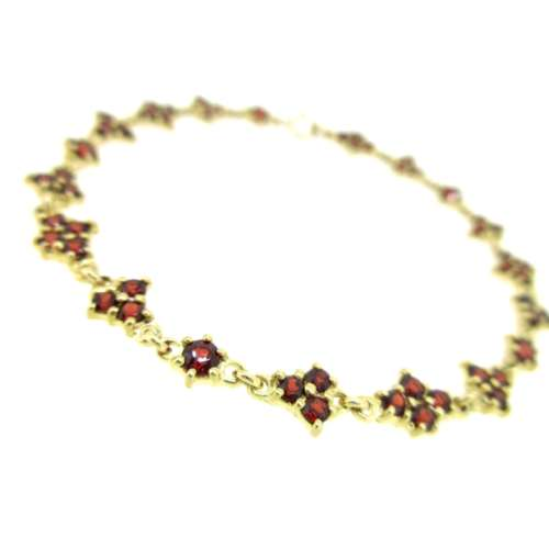 Garnet Gold Bracelet