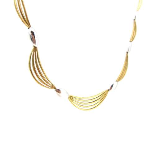 Two Colour Gold Flat Necklace