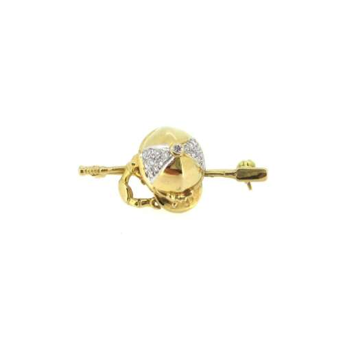 Gold & Diamond 'Jockey' Brooch