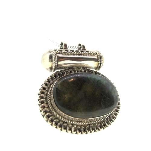 Silver & Labradorite Necklace