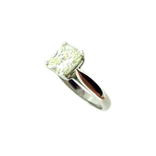 Radiant Cut Diamond Solitaire Ring