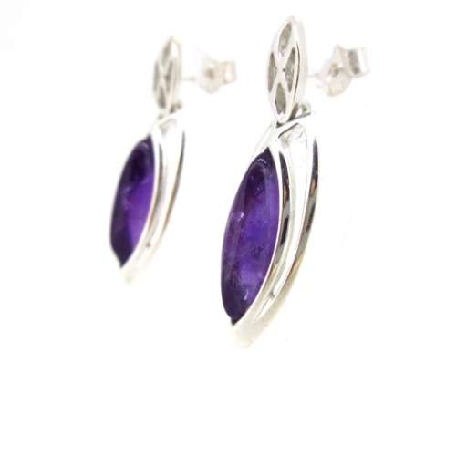 Amethyst & Silver Earrings