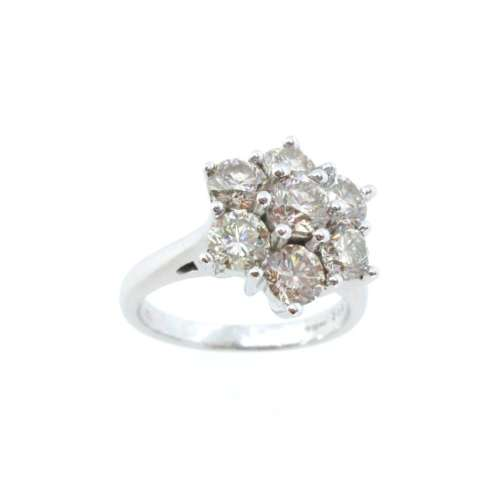 Diamond Seven Stone Cluster Ring