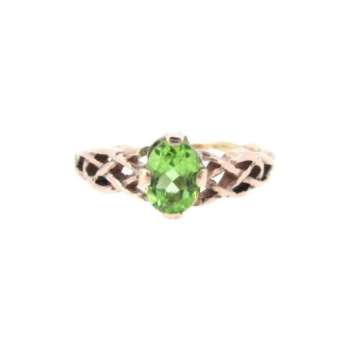 Peridot Rose Gold Ring