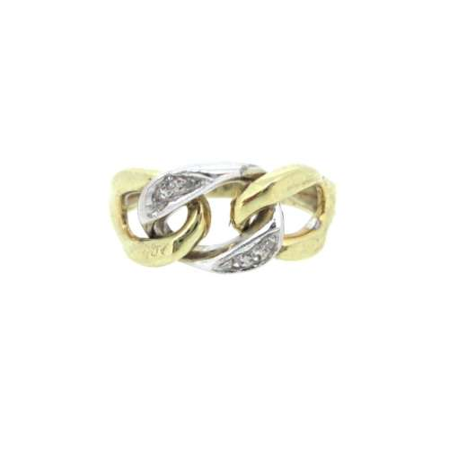 Two Colour Diamond Ring