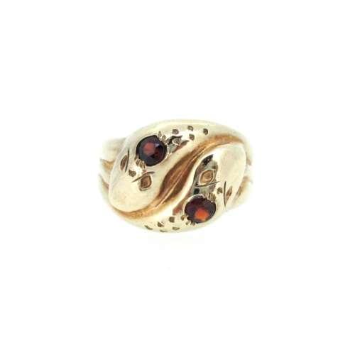 Garnet Gold Ring