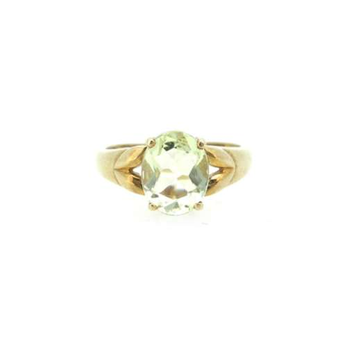 Olivine Gold Ring