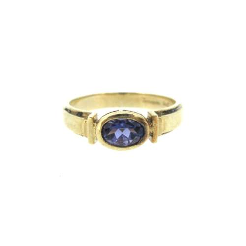 Iolite Gold Ring